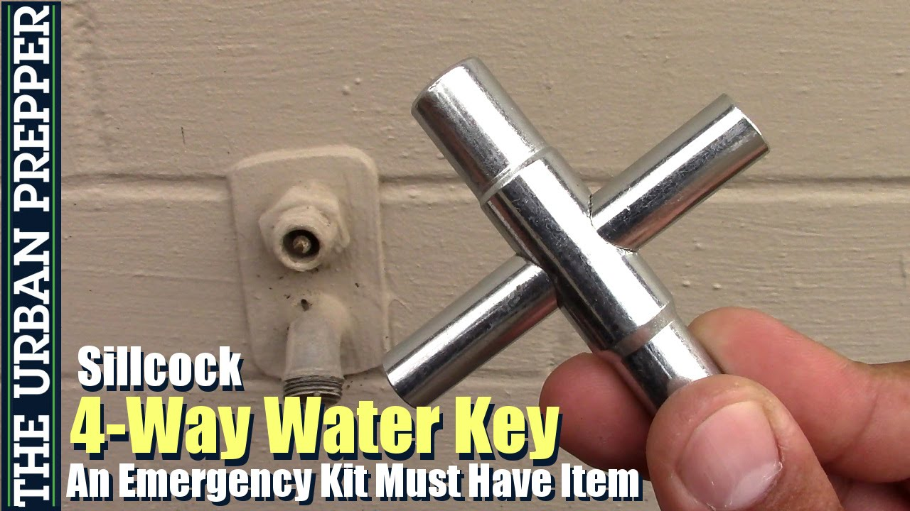 4 Way Water Faucet Key - Leaking Outdoor Faucet
