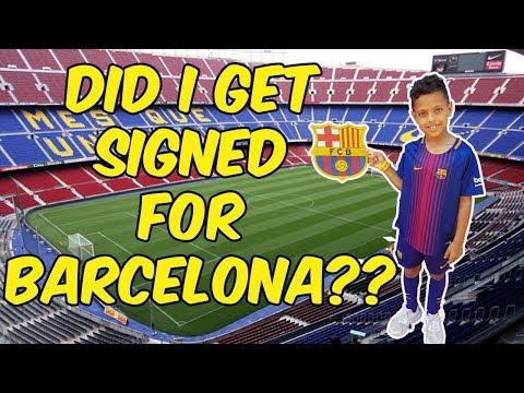 SIGNED FOR BARCELONA!! **EPIC DAY AT CAMP NOU!! **BARCELONA STADIUM!!