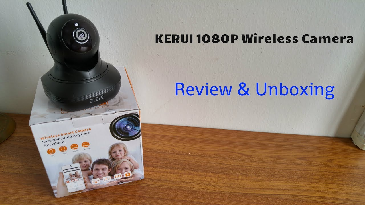 KERUI 1080P FHD Wireless IP Camera Review & Unboxing [HD]