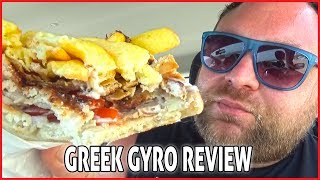 Eating a Greek Gyro in Greece - Food Review. Special Dedicated Video for Matt