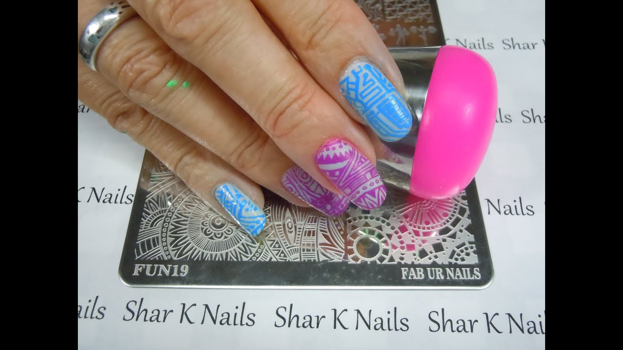 Stamping Share Fab Ur Nails SUPER LG Stamper & Plates AMAZING ...