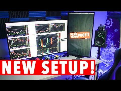 New Day Trading Computer Setup! 4K MONITOR!