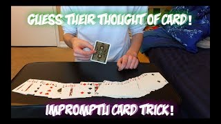 Guess What Card They're THINKING OF!! Intermediate Card Trick Performance And Tutorial