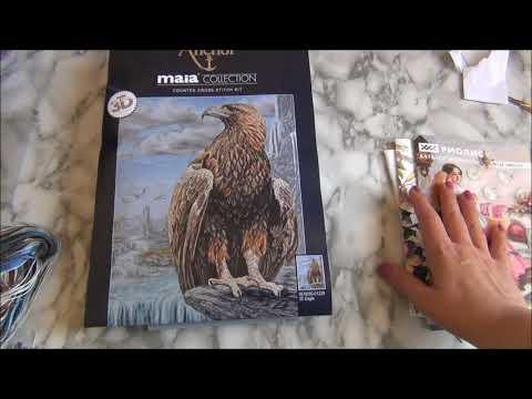 "#ANCHORMAIA 01229 ""3D Орел (3D Eagle)"" ANCHOR MAIA обзор и первые крестики"