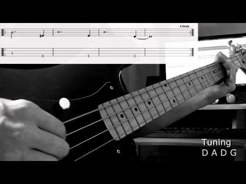 Avenged Sevenfold - Bat country bass cover with tablatures