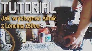 tutorial 1 jak wyciągnąć silnik z loncina 250 chucky btr
