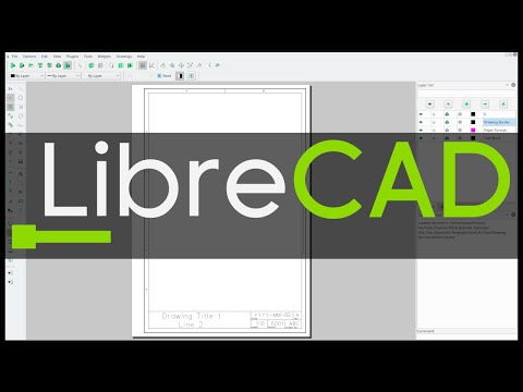 LibreCAD Tutorial: How To Draw A Title Block & Border (A4 Paper Size)