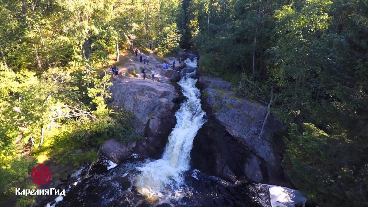 Тур - Водопады Карелии  (Первый ролик Тур фирма Карелия ГИД)