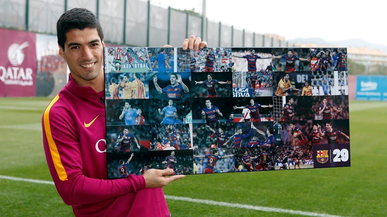 Luis Suárez analiza sus mejores goles de la temporada 2015 16. FC Barcelona 0e5f8e1d5cdac