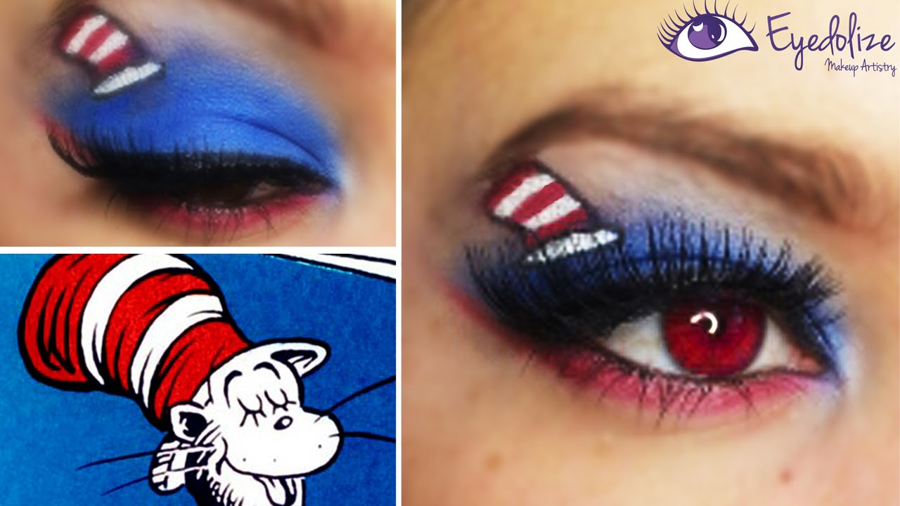 Dr Seuss Cat In The Hat Inspired Eyeshadow Tutorial By