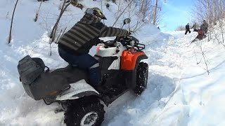 КРУТЫЕ ГOРКИ И КВАДРОЦИКЛЫ ! ATV  Baltmotors, Сan am BRP,  Yamaha Grizzly и  CFMOTO.(, 2016-03-16T13:04:22.000Z)