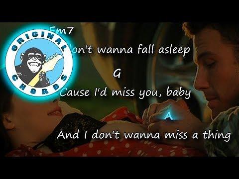 Aerosmith - I Don\'t Want To Miss A Thing - Chords & Lyrics - YouTube