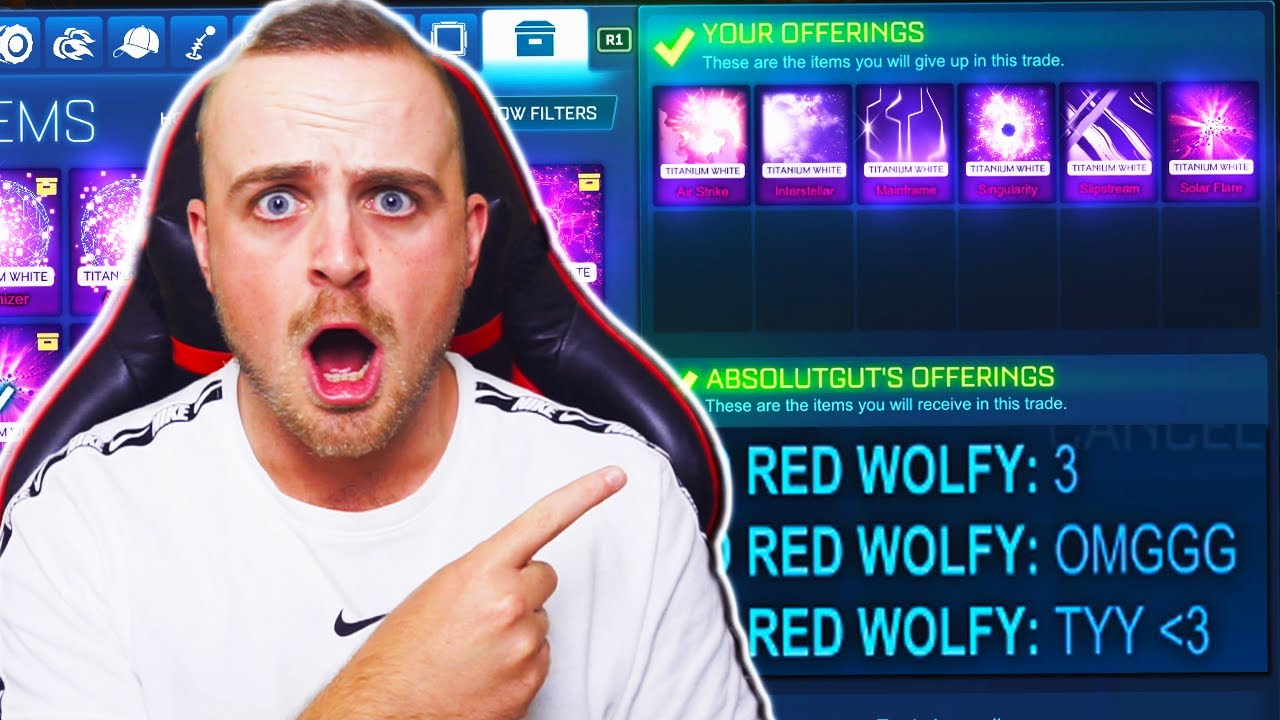 *MAINFRAME* World's Most INSANE Blind Trading with TITANIUM WHITE BLACK MARKETS ONLY | Rocket League