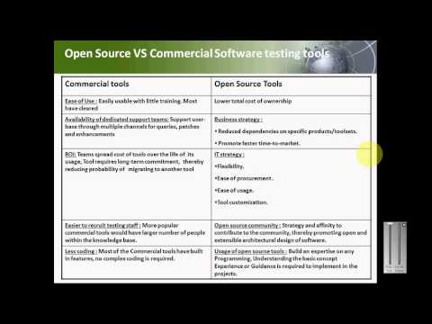OpenSource Software Testing Tools Walkthrough