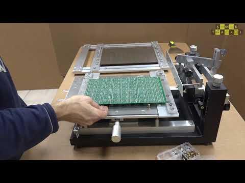 Трафаретный принтер - сборка и полный цикл работы