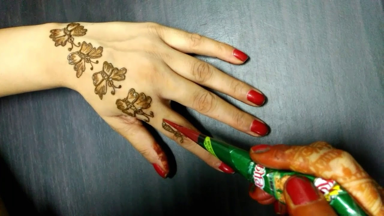 Buffterfly Henna Designs For Hands Www Topsimages Com