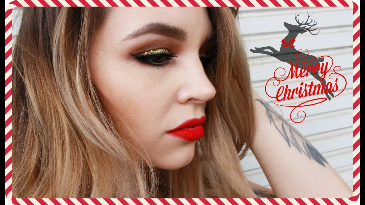 Bold christmas red lipstick tutorial best photo
