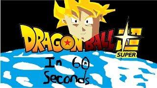 Dragon Ball Super - God of Destruction Beerus Saga in 60 Seconds (Rough Draft)