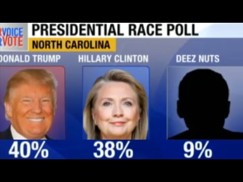 Presidential Sensation Deez Nuts is polling at 9 percent