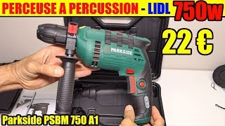 lidl perceuse à percussion parkside psbm 750 hammer drill schlagbohrmaschine