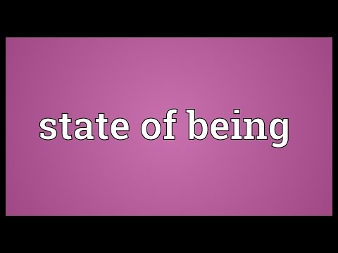 State of being Meaning
