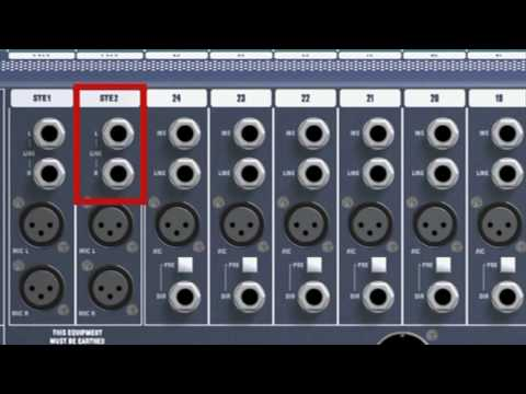 Amplifier Schematic Diagram Guide To Mixing Connecting Equipment Youtube