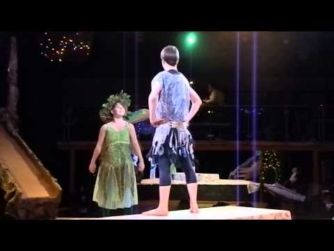 Act II, Scene 1   Puck Caleb Fricke'14 and the First Fairy Olivia Parker'14
