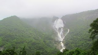 Indian Railways : 12779 Super Goa Express passing Dudhsagar waterfalls Goa