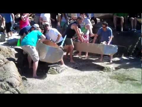 Teck Resources Cardboard Boat Race #3 - Corporate Explorer Training - Belcarra Park