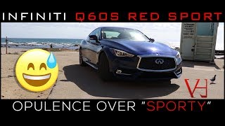"""2018 Infiniti Q60S Red Sport Review   Opulence over """"Sporty"""""""