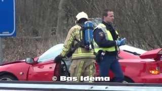 [HD] Auto door hekwerk heen na ongeval A9 thv Velserbroek