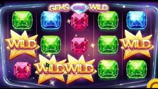 Machine à sous Gems Gone Wild, un jeu qui offre des joker aléatoirement.