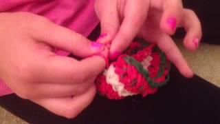Christmas Rainbow Loom Bracelet Part 15