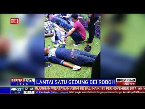 Breaking News: Selasar Atap Tower II Bursa Efek Indonesia Roboh