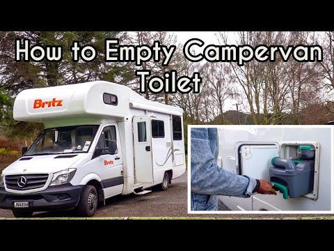 How to Empty & Clean Campervan Toilet Cassette   NZ Road trip