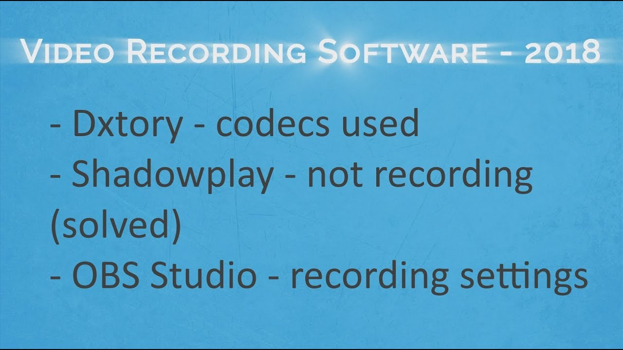 dxtory recording software