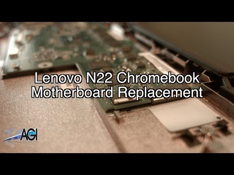 Lenovo N22 Chromebook Motherboard Replacement - YouTube