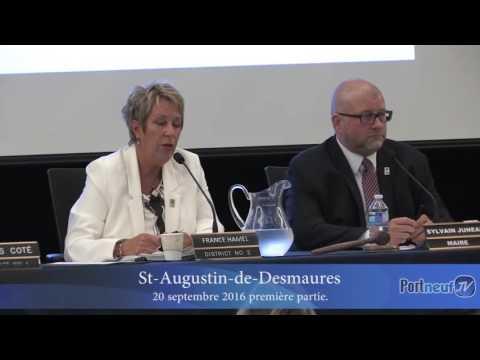 Conseil de ville de St-Augustin-de-Desmaures 20 septembre 2016 - partie 1 de 2