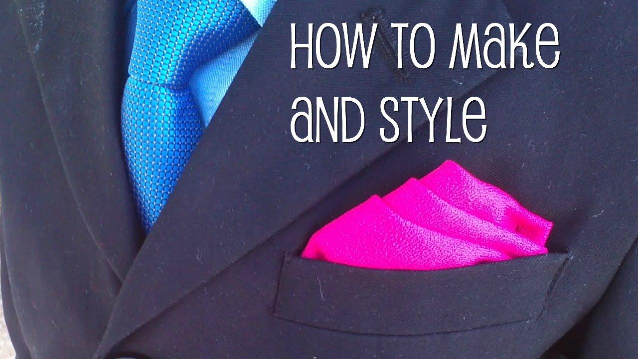 Mens jacket pocket handkerchief - How To Make A Handkerchief For A Jacket Pocket