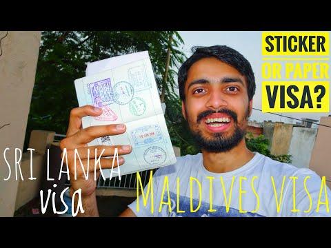 Maldives and Sri Lanka Visa Process - Documents Required