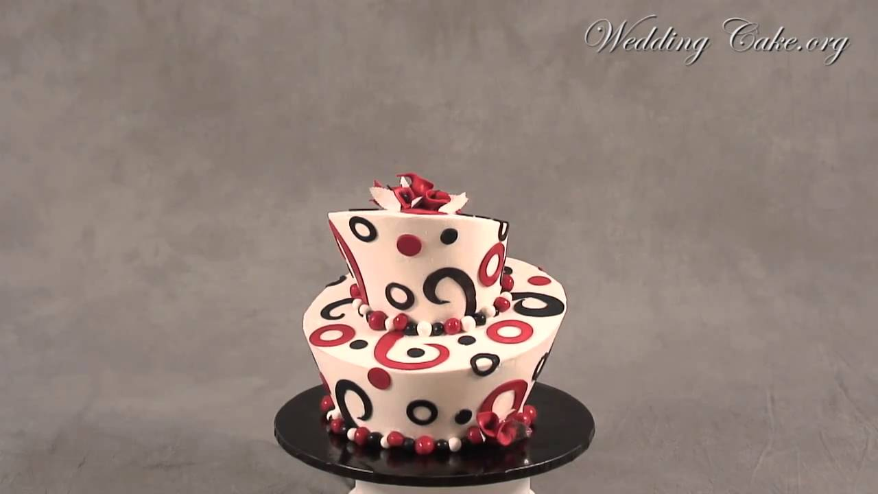 Black and Red Wedding Cakes   Jessicas Topsy Turvy   YouTube Black and Red Wedding Cakes   Jessicas Topsy Turvy