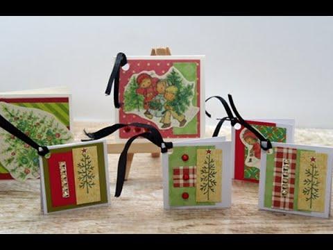 Recycle Or Use Your Stash Christmas Card Wk 73