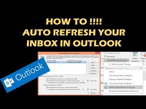 HOW TO AUTO REFRESH YOUR INBOX IN OUTLOOK