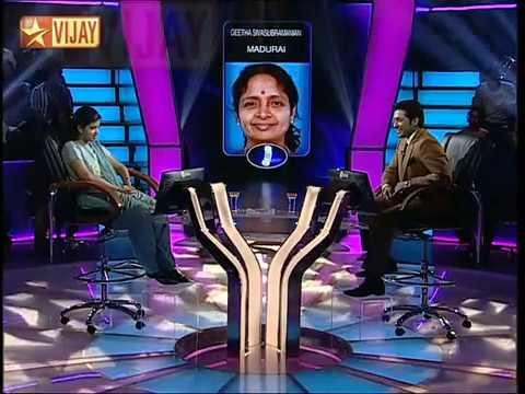 Cool attitude from a sportive Tamil - Madurai Girl in VIJAY TV Show !!!