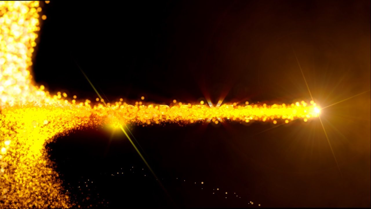 Animation Wallpaper Hd Free Download Intro Animation Template Golden Flares Sound For