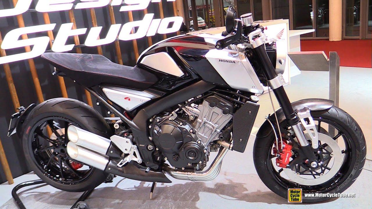 honda cb4 concept bike walkaround 2015 salon de la moto paris walkaround youtube. Black Bedroom Furniture Sets. Home Design Ideas