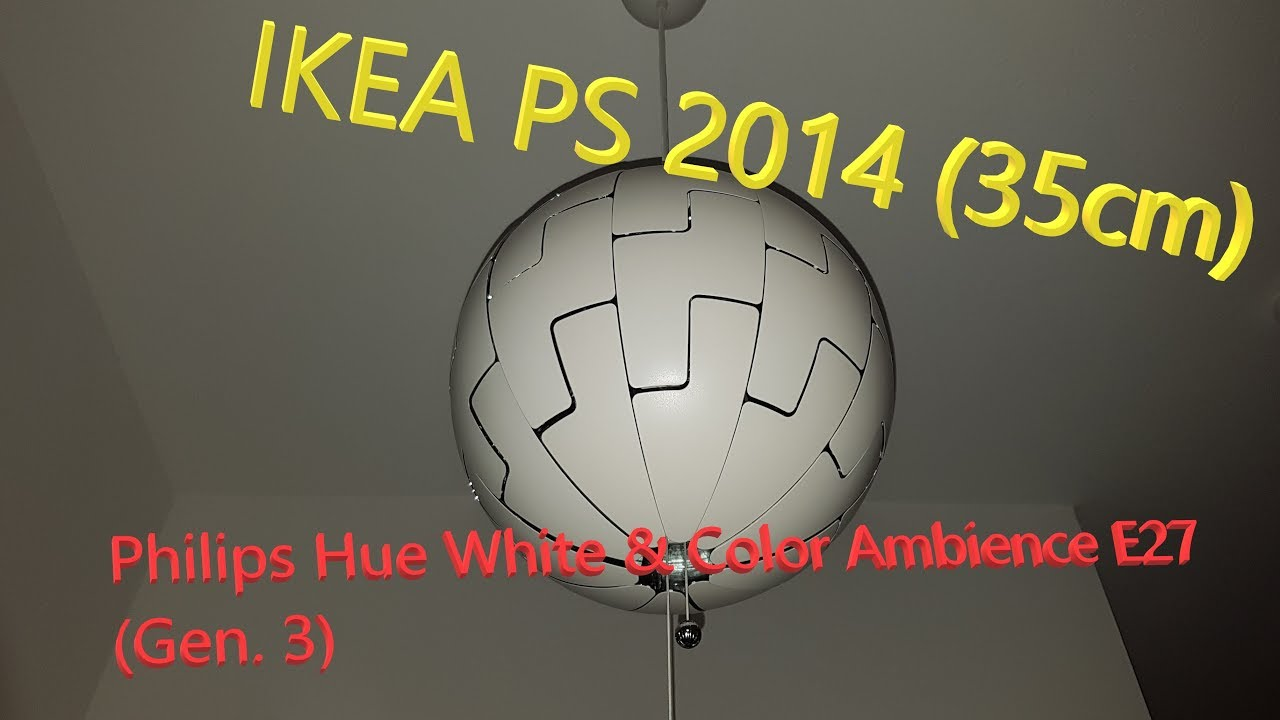 Philips Hue Schlafzimmer Lampe Ikea Ps 2014 Death Star Lamp With Philips Hue White Color Ambience E27 Gen 3