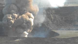 Lava lake explosion