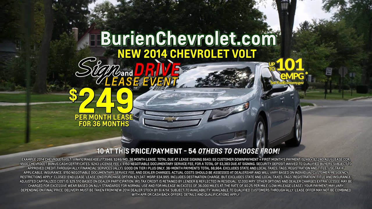 Chevy Volt Lease >> Chey Volt Sign And Drive Lease Event