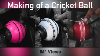 Handmade Cricket Ball | Red/White/Pink